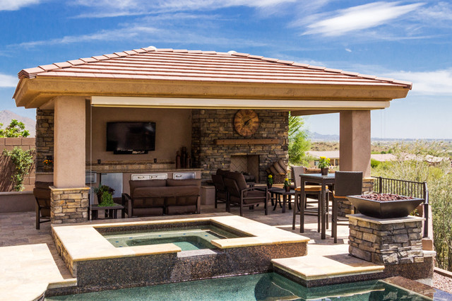 Anthem Outdoor Living Room U0026 Fire Feature Swimming Pool And Hot Tub Part 42