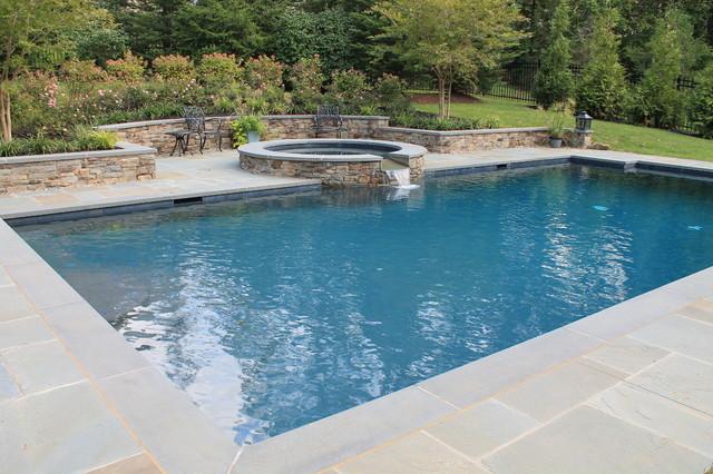 Aqua bello designs custom swimming pools traditional for Traditional swimming pool designs