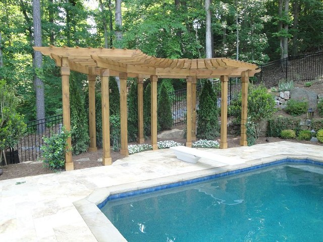 Arbors around Swimming Pools traditional-pool