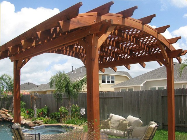 Arched Pergola traditional-pool - Arched Pergola - Traditional - Pool - San Francisco - By Forever Redwood