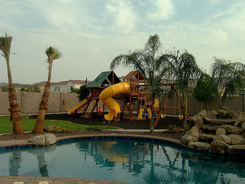 Arizona Backyard Landscaping 1 Tropical Pool Phoenix