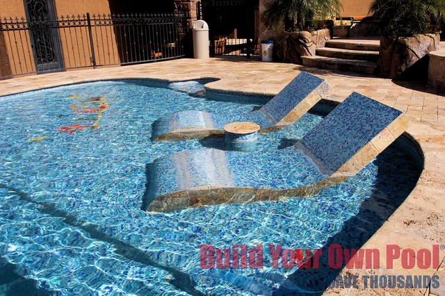 Arizona Swimming Pool And Grotto Designed By Build Your Own Pool Tropical Pool Phoenix