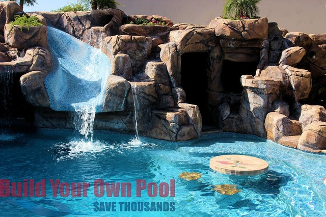 Arizona Swimming Pool And Grotto Designed By Build Your Own Pool Tropical  Pool