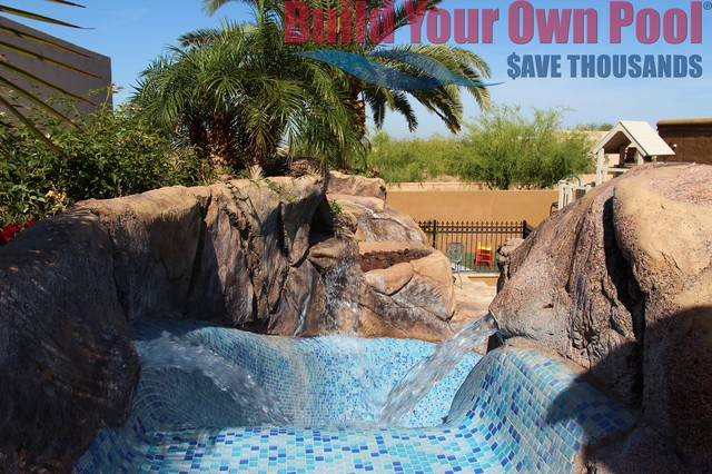 Arizona swimming pool and grotto designed by build your for Arizona swimming pools