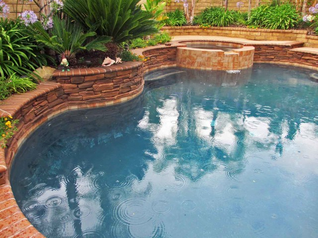 Artificial Stacked Stone Recolor To Match Mediterranean Pool Los Angeles By The Rock Market