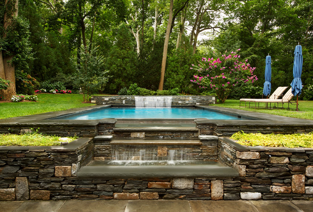 Arts Crafts House Traditional Swimming Pool Hot