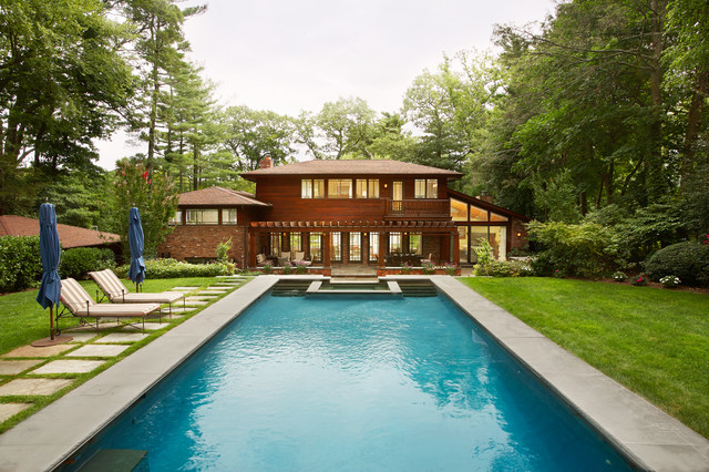Arts crafts house craftsman pool new york by for Beckerman kitchen cabinets