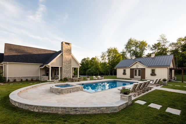 Ashwood Barn House Farmhouse Pool Cincinnati By