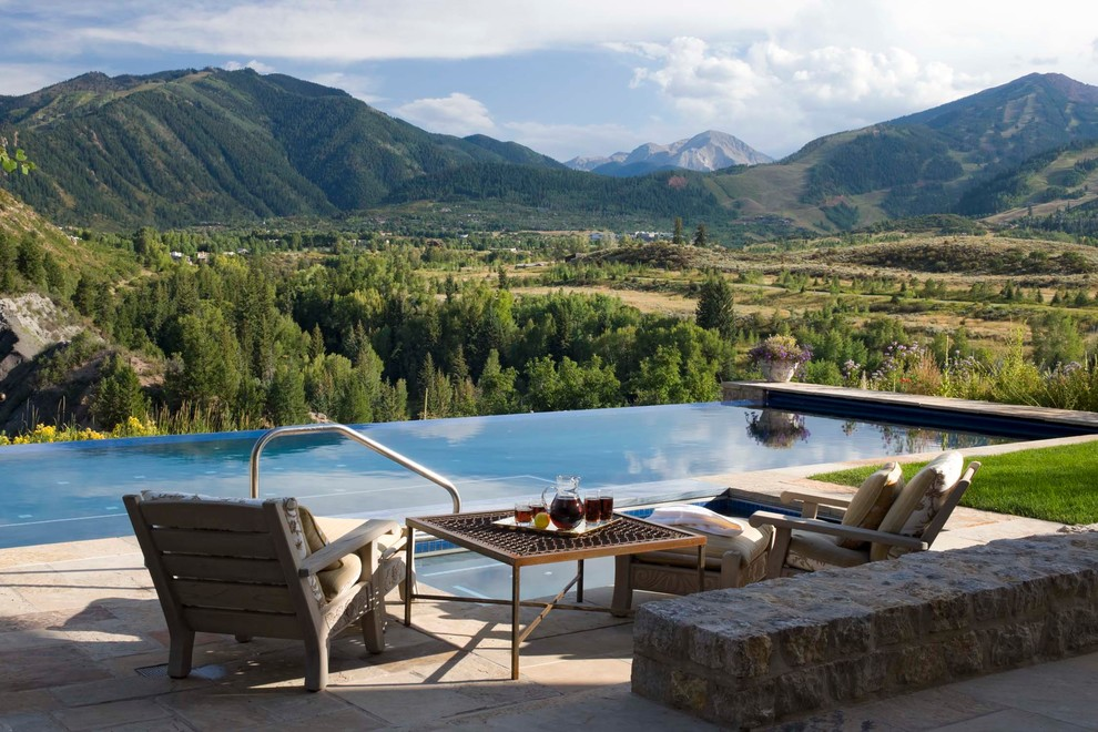 Example of a tuscan pool design in Denver