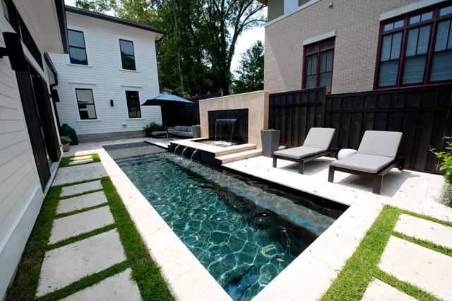 Atlanta Ga New Neoclassical Home Transitional Pool
