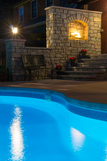 Audubon park patio traditional pool louisville by for Pool design louisville ky