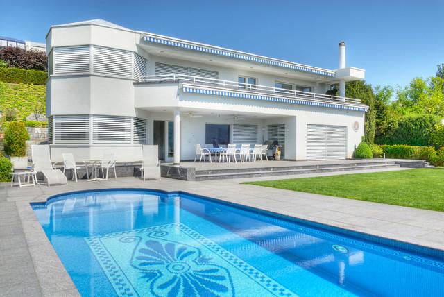 Außenanlage, Swimming-Pool klassisch-modern-pools