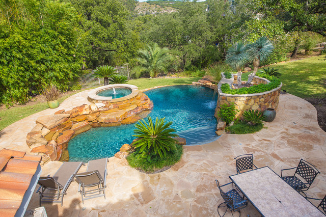 austin backyard oasis mediterranean patio