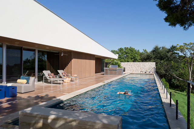 Austin Modern Home Modern Pool Austin By Foursquare Builders