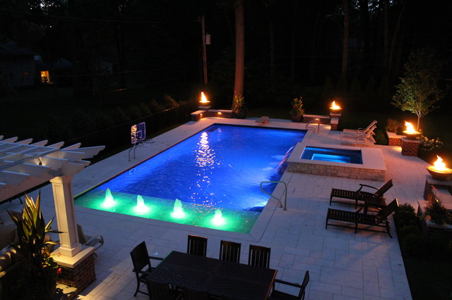 auto covered pool and spa lincolnshire - Traditional - Pool ...