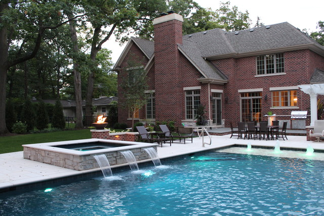 auto covered pool and spa lincolnshire traditional pool chicago by downes swimming pool. Black Bedroom Furniture Sets. Home Design Ideas