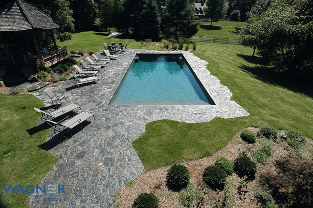 Automatic Cover, Tahoe Blue Pebble, In Floor Cleaning, Ozone/UV Sanitizing - Transitional - Pool ...