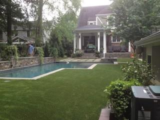 AWARD WINNING House synthetic turf backyard oasis - Traditional - Pool - atlanta - by Southwest ...