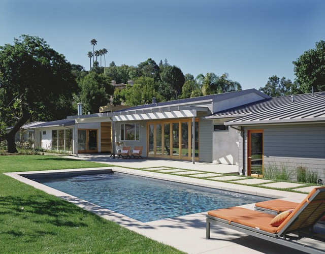 Award Winning Mid Century Modern Contemporary Pool Los Angeles on 6 Bedroom Rambler House Plans