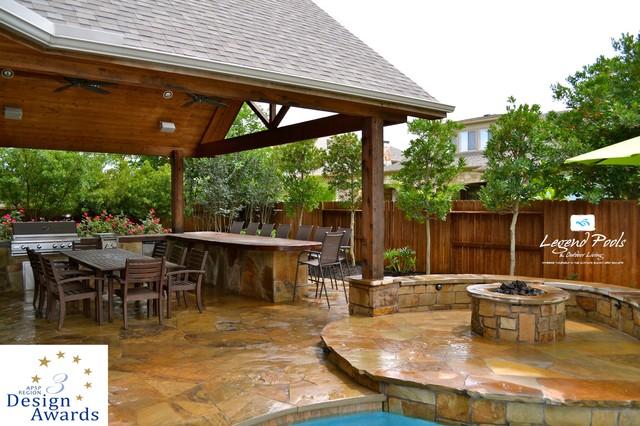 APSP Region 3 Design Award Winning Pool~Seven Meadows, Katy, Texas traditional-pool