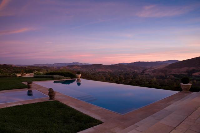 Back Yard mediterranean-pool