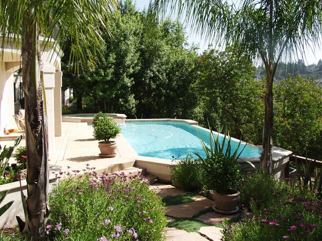 Back Yards mediterranean-pool