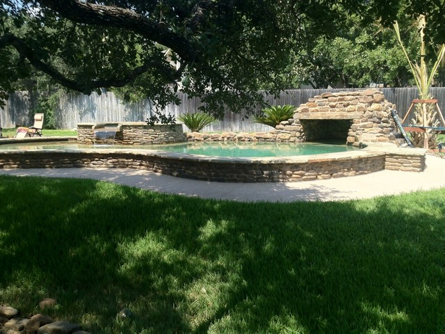 backyard freeform pool spa grotto contemporary pool by new wave pools