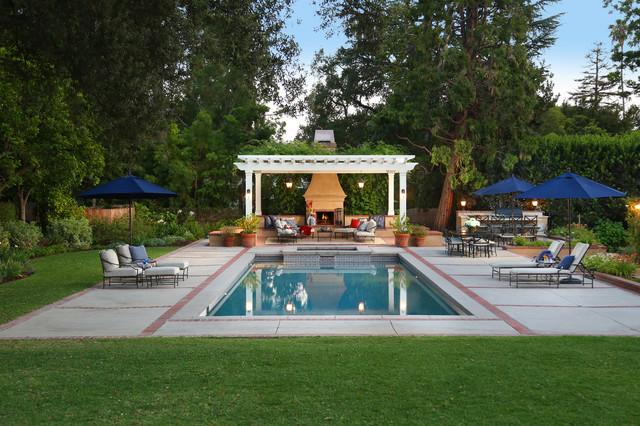 Backyard Getaways Herrin Il : Backyard Getaway Traditional Swimming Pool And Hot Tub
