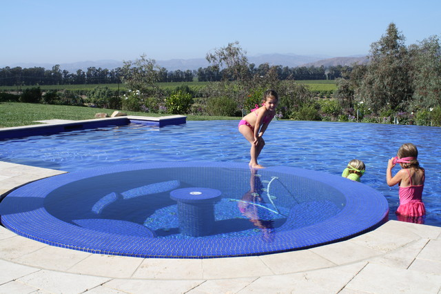 Backyard golf swim club eclectic pool los angeles by green scene landscaping pools for Swimming pool supplies los angeles