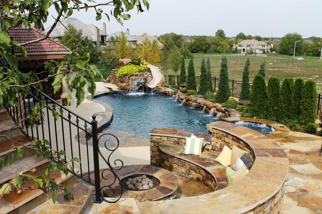 Backyard living eclectic pool kansas city by banks for Pool design kansas city