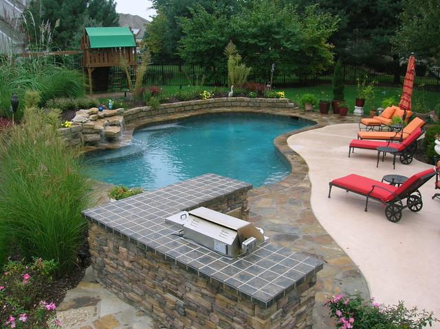 backyard living traditional pool kansas city by banks pool spa design