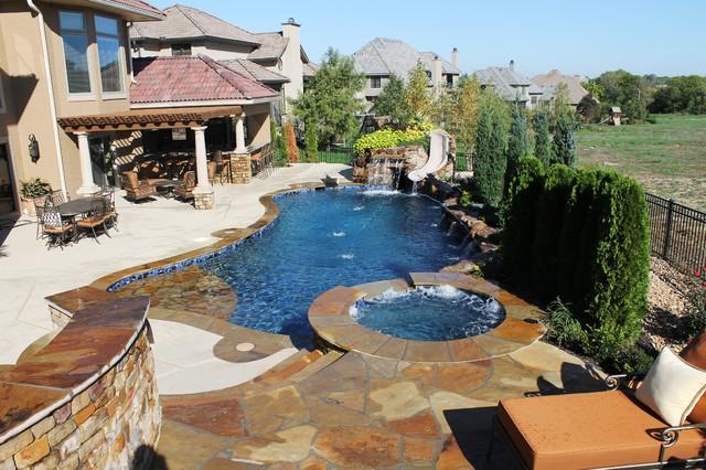 Backyard Living - Mediterranean - Pool - kansas city - by ...