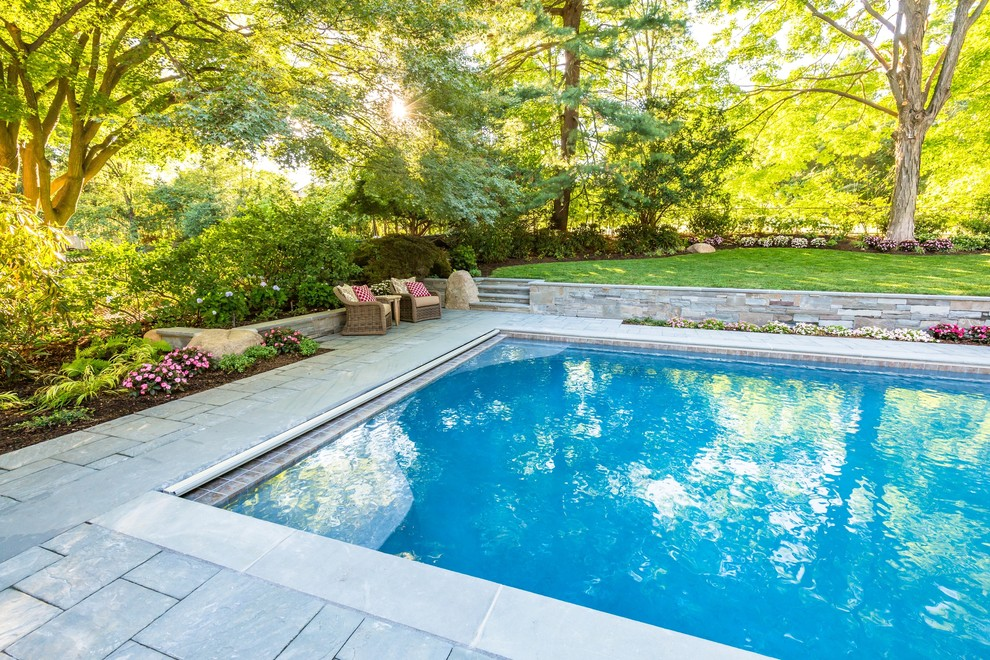 Backyard makeover and pool renovation for a family in ...