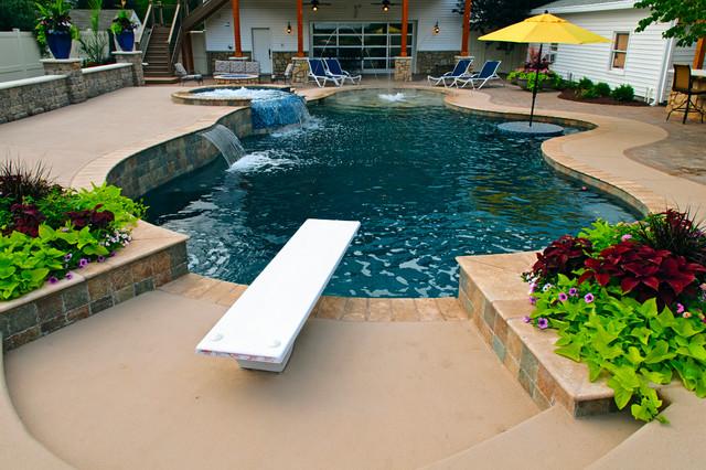 Backyard Oasis in Perry, KS - Contemporary - Pool - Kansas ...