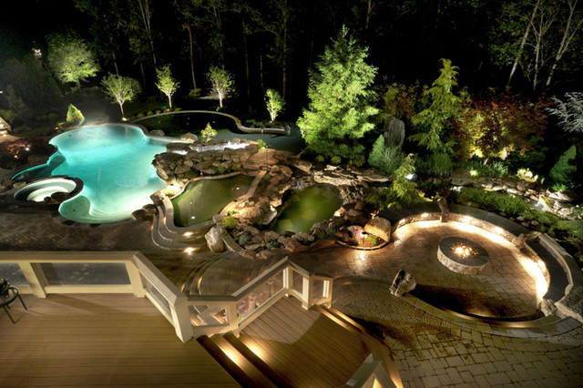 Backyard Oasis contemporary-pool