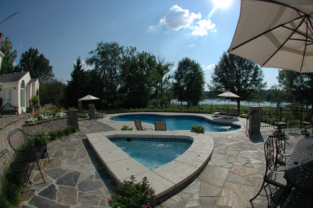 Backyard paradise on the lake traditional pool for Pool design louisville ky