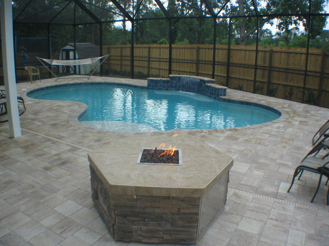 Backyard pool traditional pool jacksonville by for Pool designs florida