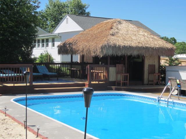 Backyard Tiki Bar Tropical Pool