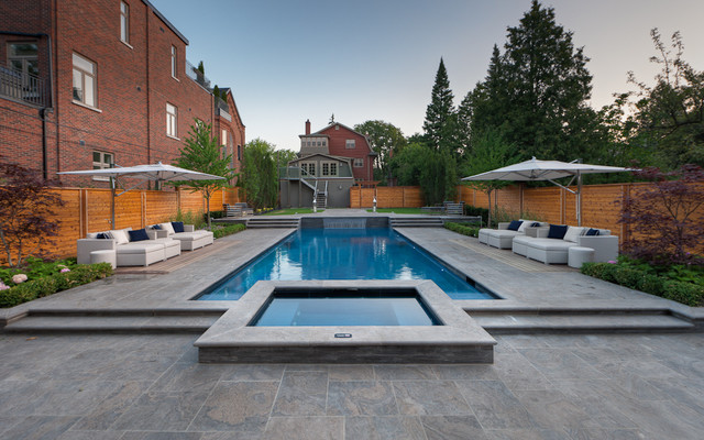 Backyard with Everything contemporary-pool