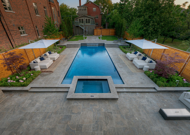 Contemporary Pool backyard with everything - contemporary - pool - toronto -betz