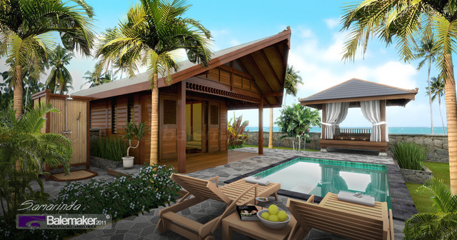 Bali Architecture And Design Tropical Pool Other Metro on Bali Style House Plans