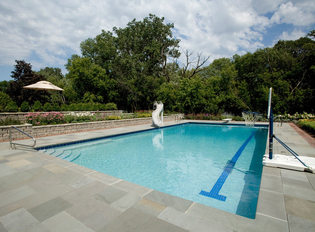 Barrington Hills Il Lap Swimming Pool Rustic Pool Chicago By Platinum Poolcare