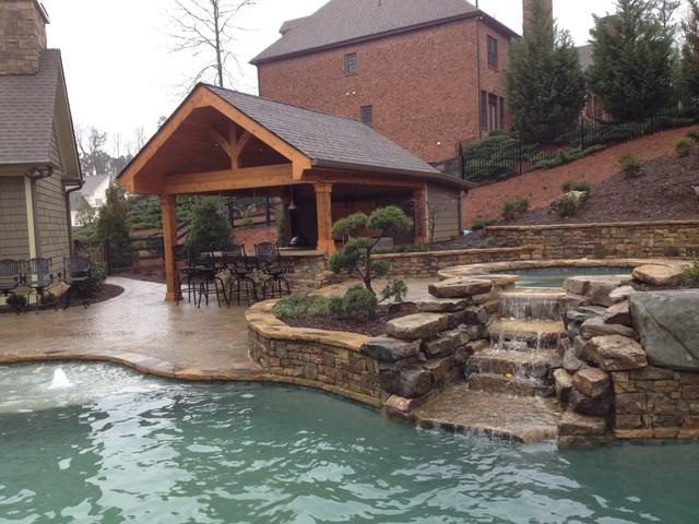 Bartlone's Backyard Paradise in Milton traditional-pool