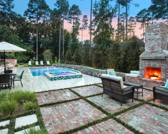 Traditional home design photos decor ideas in new orleans for Pool design new orleans