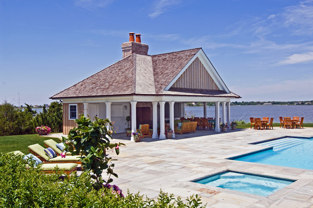 Bayfront Hamptons Cabana Beach Style Pool New York