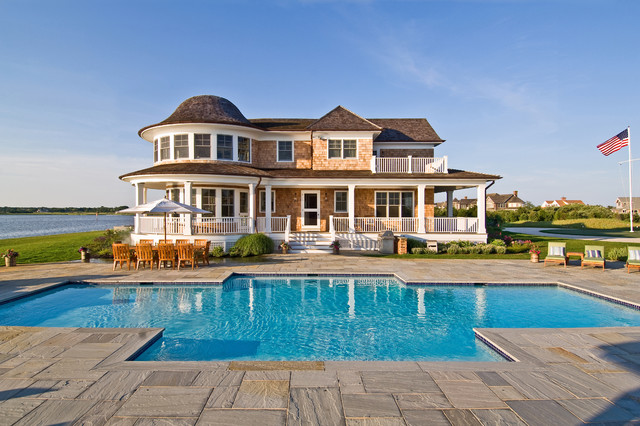 Bayfront Hamptons Pool Victorian New York By