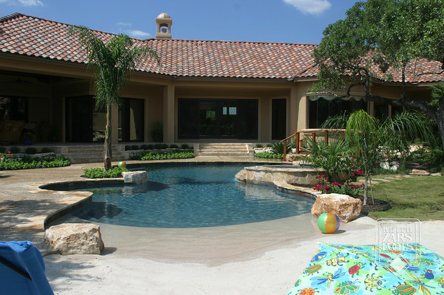 Beach entry pools beach style pool other metro by keith zars pools Beach entry swimming pool designs