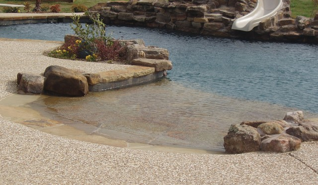Beach Entry Pools Style Pool Dallas By