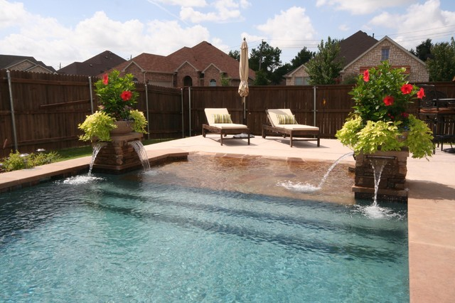 Beach Entry Pools Beach Style Pool Dallas By