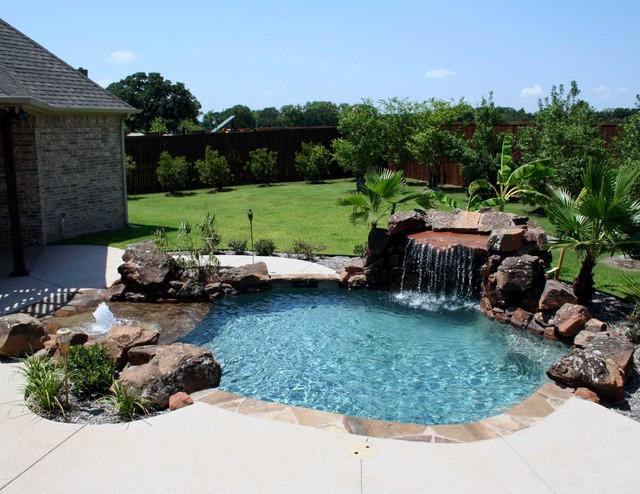 Beach Entry Pools Beach Style Pool Dallas By